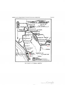 Map of expedition sites in Sumatra, 1901