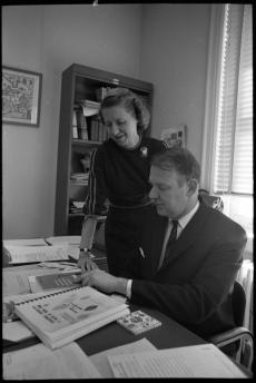 Dr. Clifford Evans and Dr. Betty J. Meggers, anthropologists at Museum of Natural History, 1968.