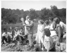 George Roemmert on a collecting field trip with students, 1939, Accession 90-105: Science Service, R