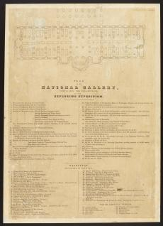 Plan of the National Gallery containing the collections of the United States Exploring Expedition.