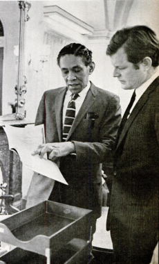 Ralph M. Tate and Edward Kennedy, 1969.