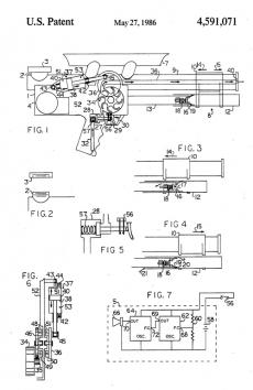 Lonnie Johnson's US Patent 4,591,071 for a Squirt Gun