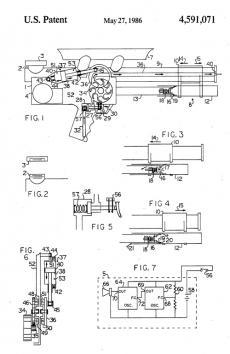 Lonnie Johnson's US Patent 4,591,071 for a Squirt Gun