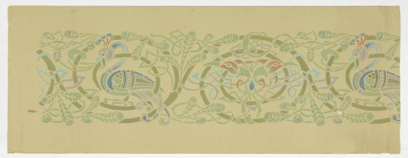 Frieze (USA), 1900; Designed by Grace Lincoln Temple (1865-1953); stenciled, tempera on paper; Over