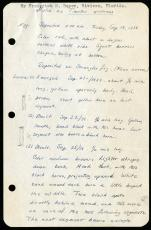 Frederick M. Bayer's Larval Notes, Page 1. Record Unit 7399, Smithsonian Institution Archives. Image