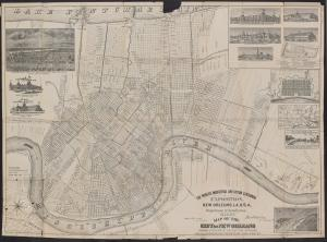 Black and white map of New Orleans.