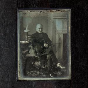 A daguerreotype of John Quincy Adams, taken in March 1843.