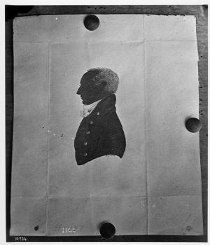 Henry James Hungerford, creator unknown 18xx, silhouette, Smithsonian Institution Archives, negative