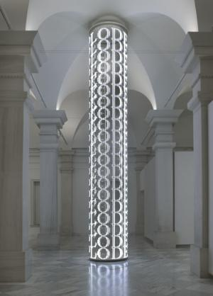 For SAAM, 2007, by Jenny Holzer, electronic LED array with white diodes, Smithsonian American Art Mu