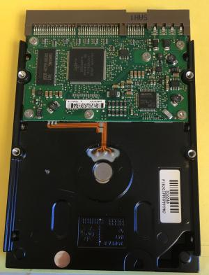 Color image of computer hard drive.