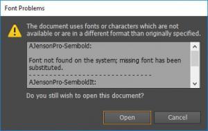 Screenshot of a grey dialogue box