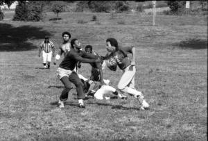Smithsonian Institution flag football team versus Howard University Hospital, 1980.