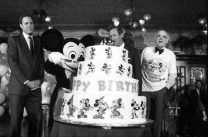 Mickey Mouse 60th Birthday Celebration during the Disney donation with Michael Eisner (CEO), Roy Dis