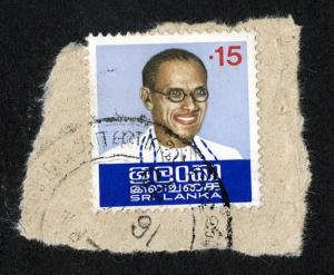 Stamp depicting S. W. R. D. Bandaranaike