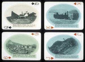 Playing cards with images of Panama Canal construction; Smithsonian Institution Archives, neg. no. 9