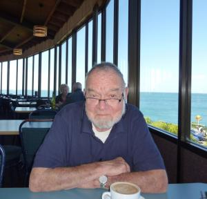 Donald Squires, 13 March 2015, Oyster Cove Restaurant, Bluff, Southland, NZ. Photo by M. Steinberg.
