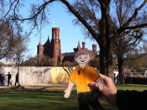 'Flat John' Visits the Smithsonian Castle, 2015, Marcel Chotkowski LaFollette