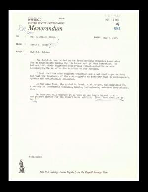 Correspondence and Memoranda related to Architectural Graphics, 1965-1968. Record Unit 447: National