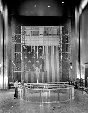 The Star-Spangled Banner, in Flag Hall of the National Museum of History and Technology, 1964.