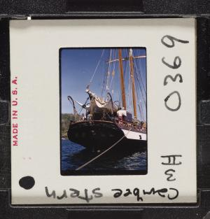 Caribee stern, Schmitt on port side, 1959. Image SIA2018-109433.