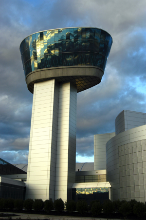 The Donald D. Engen Tower provides a 360-degree bird's eye view of Washington Dulles International A