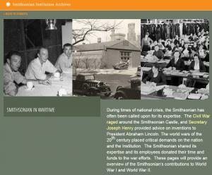 The Smithsonian in Wartime web exhibit