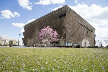 The completed National Museum of African American History and Culture, 2016.