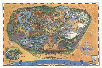 Disneyland map, 1966