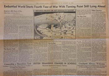 """""""Embattled World Starts Fourth Year of War With Turning Point Still Lying Ahead"""" article from The Wa"""
