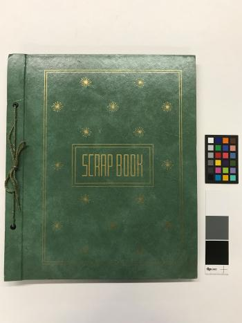 Green book cover with gold writing.