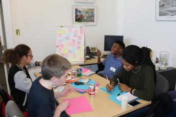 Teens at the Human-Centered Design Workshop