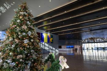 Holiday decorations at the National Museum of African American History and Culture, 2016