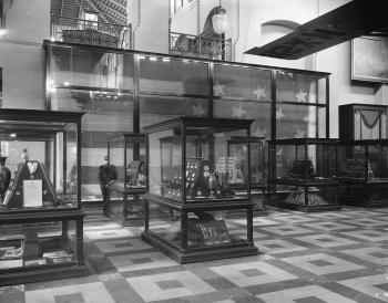 Exhibit of the Star-Spangled Banner, exhibited in the Arts and Industries Building, 1928.