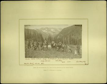 The Hayden Survey Party in Colorado, 1874.