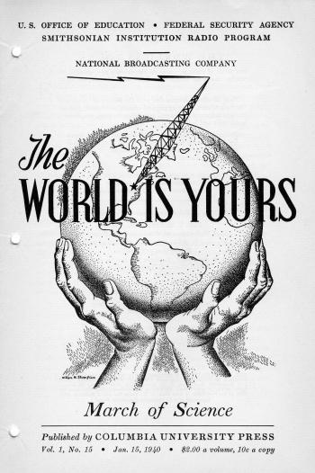 Cover of the supplementary material for March of Science, an episode of the radio program The World