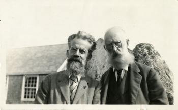 Dr. James Mavor and Patrick Geddes. Smithsonian Institution Archives, SIA2008-5937.