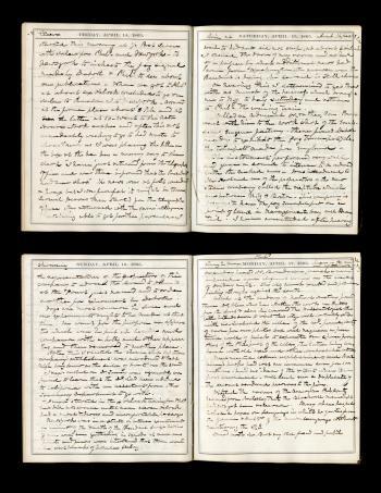 Joseph Henry's Desk Diary for April 14-17, 1865, Record Unit 7001: Joseph Henry Collection, Smithson