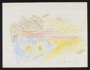 A drawing by Barbara Schmitt for her father, Dr. Waldo L. Schmitt, 1925.