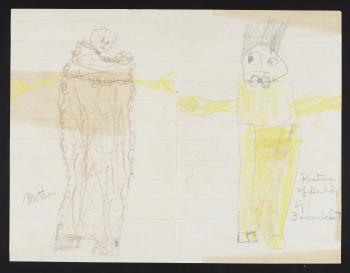 A drawing by Barbara Schmittfor her father, Dr. Waldo L. Schmitt, 1925.