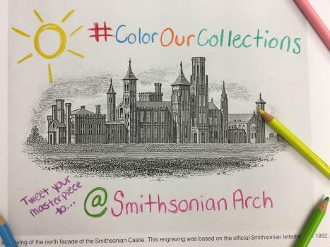 Download our coloring pages and Tweet us your designs @SmithsonianArch!