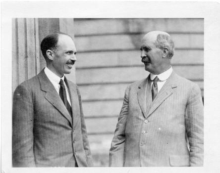 William Lawrence Bragg and William Henry Bragg. Smithsonian Institution Archives, SIA Acc. 90-105 [S