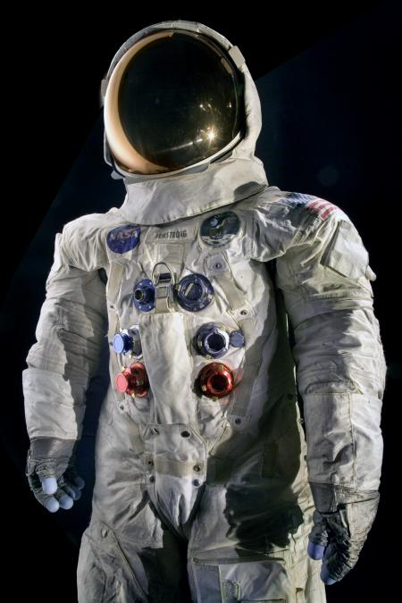 Neil Armstrong's Apollo 11 spacesuit worn during a 2 hour, 31 minute, and 40 second EVA (extra-vehic