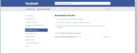 "The ""Downloading Your Info"" under Facebook creates a ZIP file of your account."