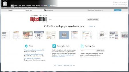 The Internet Archive's Wayback Machine regularly captures web pages and makes them available.