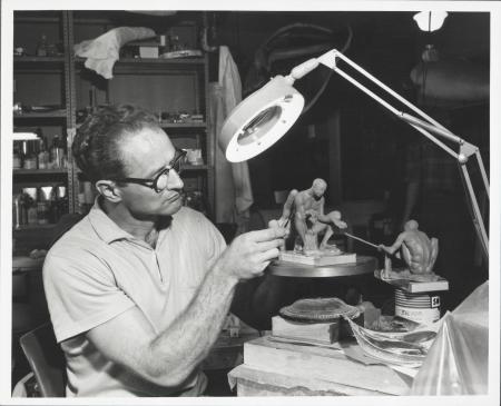 Sculptor John Weaver Completes Figures for Ironworking Diorama