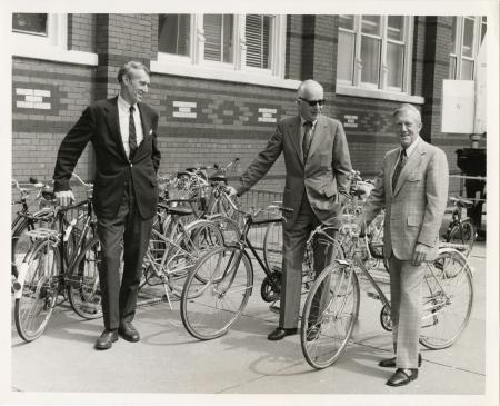 Senior Administrators with Bicycles