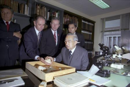 Visit of Emperor Hirohito of Japan to National Museum of Natural History