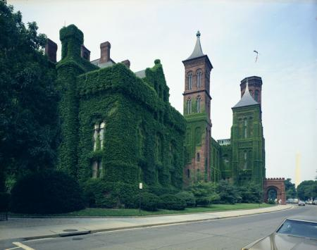 Smithsonian Institution Building, or Castle, Covered in Ivy