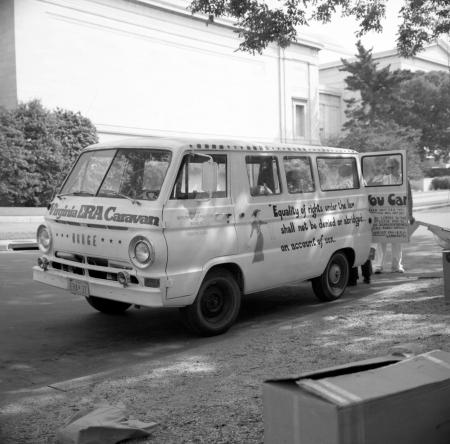 Virginia ERA Caravan at the Alice Paul Memorial March