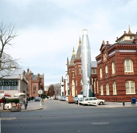 View from Independence Avenue of Smithsonian Buildings, 1969